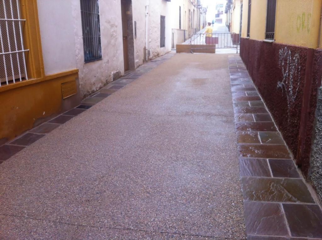 Calle de pavimento desactivado en Ubeda Jaen