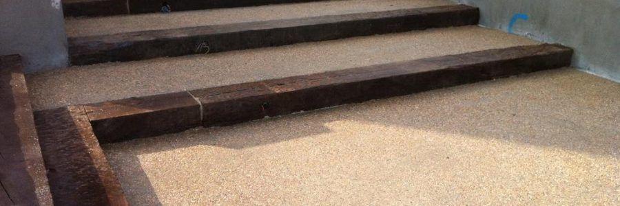 Pavimento de hormigón desactivado en chalet