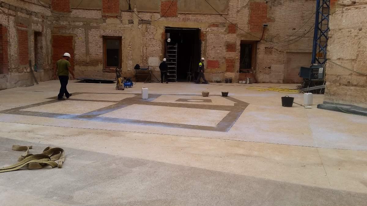 Hormigón blanco desactivado en Palacio del Temple, Valencia